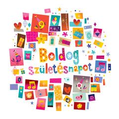Happy birthday in Hungarian card