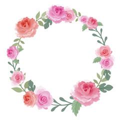 Wreath of roses.