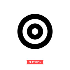 Target vector icon, goal symbol