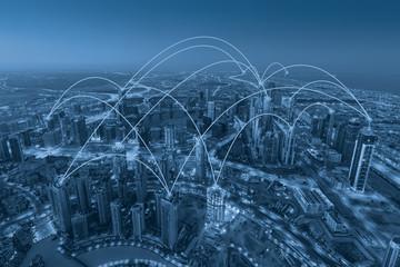 Development of internet web networks across the modern city