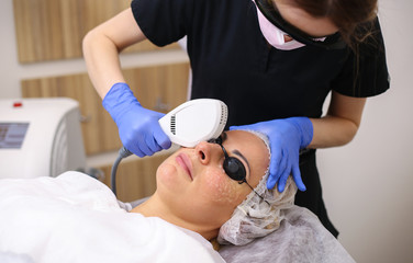 Photo Facial Therapy. Anti-aging Procedures.
