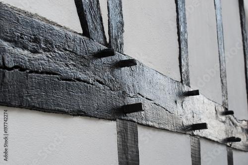 Historische Architektur Fachwerk Balken Rahmen Aus Holz Stockfotos