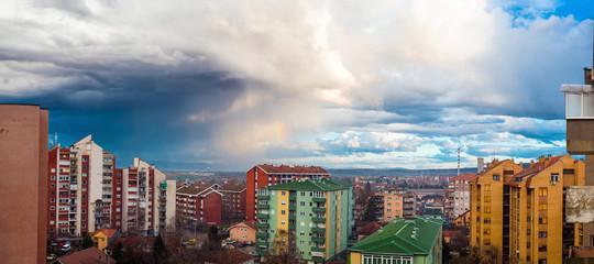 Panorama of Jagodina City Serbia