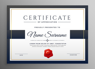 clean modern certificate template design