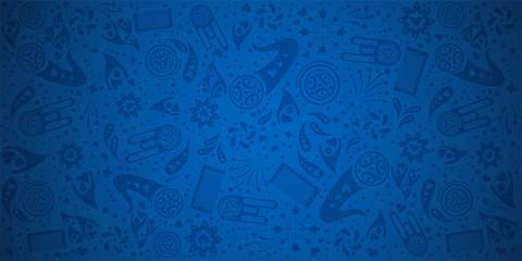 Blue background pattern template.  vector illustration
