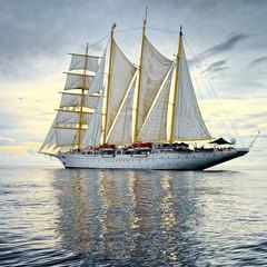 Sailing ship. Cruises. Traveling. Yachting. Sailing