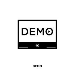 demo icon isolated on white background for your web, mobile and app design