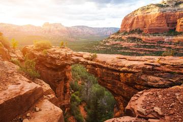 Photo sur cadre textile Arizona Travel in Devil's Bridge Trail, scenic view panoramic landscape, Sedona, Arizona, USA