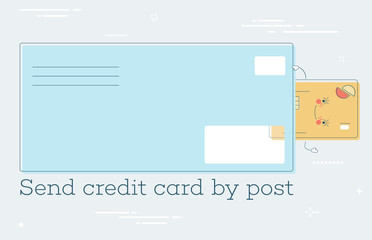 Send credit card by post concept