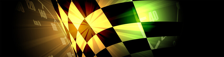 Racing square background, vector illustration abstraction in car track Fototapete