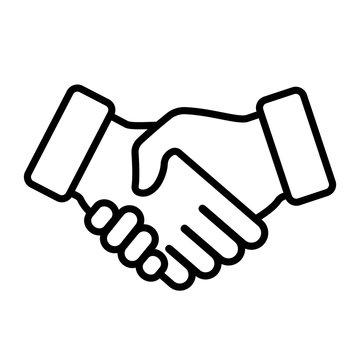 Handshake icon. Vector