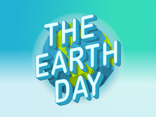 Happy Earth Day concept. World environment day vector concept
