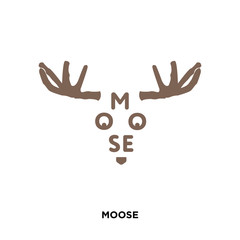 moose icon isolated on white background for your web, mobile and app design