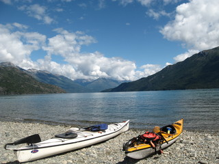 Lake of Lago Puelo National's Park in Patagonia, Argentina