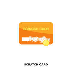 scratch card icon isolated on white background for your web, mobile and app design