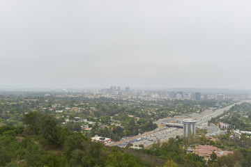 Los Angelos Highway with Traffic 405