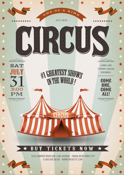 Retro And Grunge Circus Background