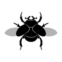 Vector image of a scarab beetle silhouette
