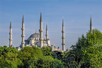 Istanbul, Turkey, 30 April 2008: Sultanahmet Mosque.