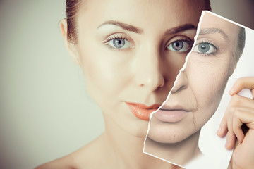 aging problems  of face skin