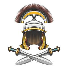 Roman Empire Helmet with Swords