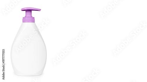 White hand sanitizer soap dispenser isolated on white background ...