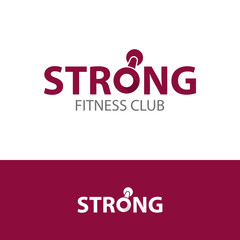 Fitness club strong logo concept