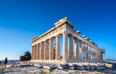 Photo sur Aluminium Athenes Parthenon temple on the Acropolis in Athens, Greece