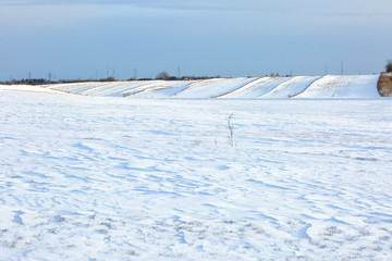 Winter landscapes in depopulated fields and forests and roads of Eastern Europe.
