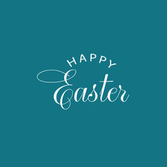 Happy Easter Vector Calligraphy Text Illustration