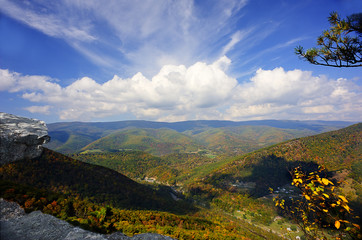 Fall scene from North Fork Mountain