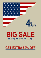 Vektor Sale Poster mit amerikanischer Flagge. Eps 10 Vektor Datei