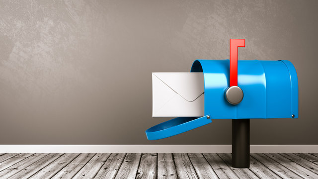 Mailbox in the Room with Copy Space