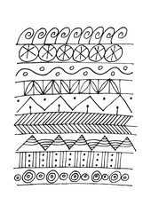Vector illustration of simple patterns