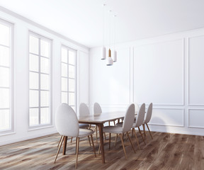 White boardroom interior close up