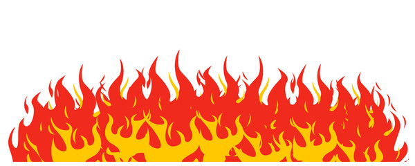 Fire on a white background. Vector illustration for design - for stock vector