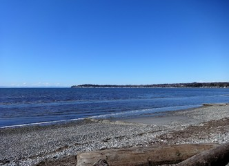 Spring sunshine at Birch Bay beach