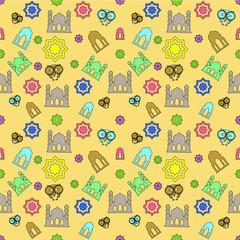 patern seamles ramadan doodle