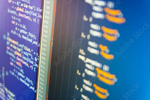 Software development  Software source code  Programming code typing