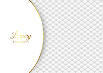 Luxury background with white quilted design