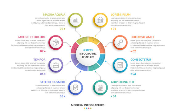 Circle Infographics - Eight Elements