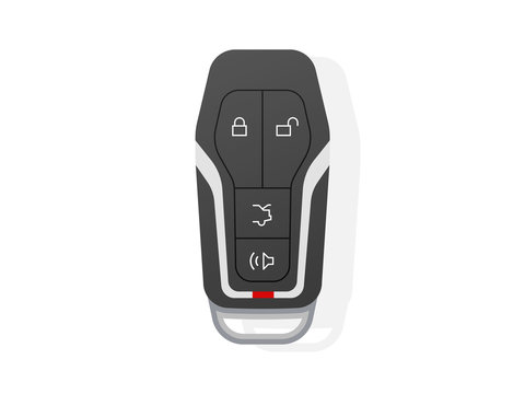 Car Key Modern Icon Vector