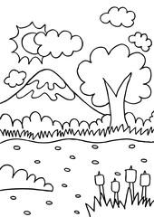 Mountain doodle sketch