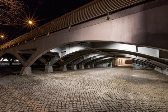 Brücke über die Havel in Potsdam bei Nacht