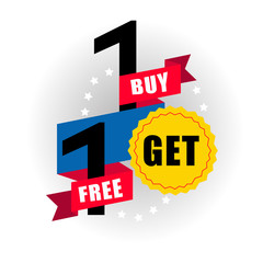 Buy 1 get 1 free vector illustration