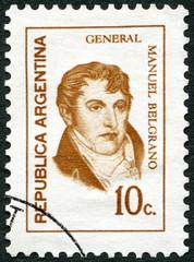 ARGENTINA - 1970: shows Manuel Belgrano (1770-1820), general, politician