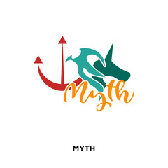 myth icon isolated on white background for your web, mobile and app design