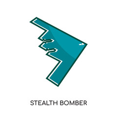 stealth bomber logo isolated on white background for your web, mobile and app design