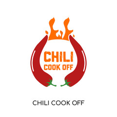 chili cook off logo isolated on white background for your web, mobile and app design