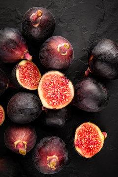 Figs on Black Slate